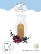 Glass Huricane & Candle - Elizabeth Craft Metal Die By Susan's Garden Club