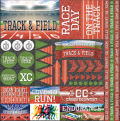 "Track & Field Elements Stickers 12""X12"""