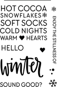 "Hello Winter - Neat & Tangled Clear Stamps 4""X6"""