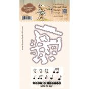 """Let's Sing Together - DreamerlandCrafts Clear Stamp & Die Set 4""""X4"""""""