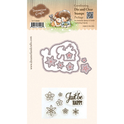 "Comforting Friends - DreamerlandCrafts Clear Stamp & Die Set 4""X4"""