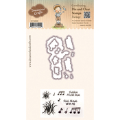 "Sweet Sounds In The Air - DreamerlandCrafts Clear Stamp & Die Set 4""X4"""