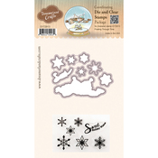 "Floating Through Time - DreamerlandCrafts Clear Stamp & Die Set 4""X4"""