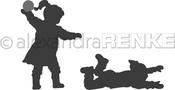 "Snowball Fight 1.5""X2.1"", .86""X2"" - Alexandra Renke Die"