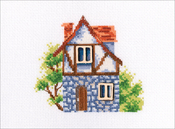 """My Sweet Home II (14 Count) - RTO Counted Cross Stitch Kit W/ Plywood Form 5""""X4.25"""""""