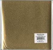 "Bright Gold - Gloss Glitter Paper 12""X12"""
