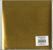 "Gold - Gloss Glitter Paper 12""X12"""