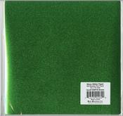 """Green - Gloss Glitter Paper 12""""X12"""""""