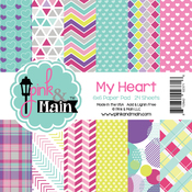 "My Heart - Pink And Main Double-Sided Paper Pad 6""X6"" 24/Pkg"