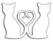 "Kitty Love 2.2""X1.6"" - Penny Black Creative Dies"