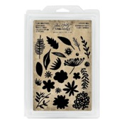Cutout Floral Cling Foam Stamps - Tim Holtz