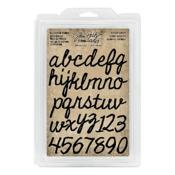 Cutout Script Alpha & Numbers Cling Foam Stamp - Tim Holtz