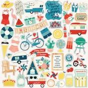 Good Day Sunshine Element Sticker Sheet - Echo Park