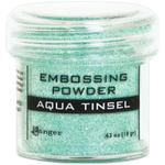 Aqua Tinsel Embossing Powder