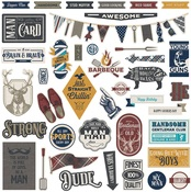 Man Card Element Stickers - Photoplay