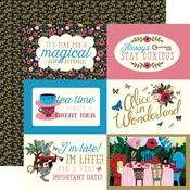 4x6 Journaling Card Paper - Alice In Wonderland - Echo Park