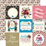 4x4 Journaling Card Paper - Alice In Wonderland - Echo Park - PRE ORDER