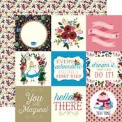 4x4 Journaling Card Paper - Alice In Wonderland - Echo Park