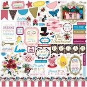 Alice in Wonderland Sticker Sheet - Echo Park - PRE ORDER