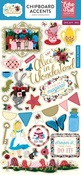 Alice in Wonderland Chipboard Accents - Echo Park