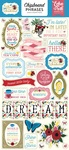 Alice in Wonderland Chipboard Phrases - Echo Park