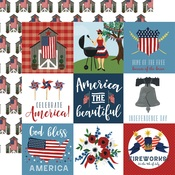 4X4 Journaling Card Paper - Celebrate America - Echo Park - PRE ORDER