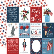 3X4 Journaling Card Paper - Celebrate America - Echo Park