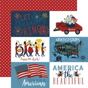 4X6 Journaling Card Paper - Celebrate America - Echo Park
