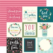 4X4 Journaling Card Paper - Have Faith - Echo Park
