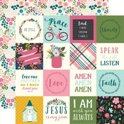 2X2 Journaling Card Paper - Have Faith - Echo Park