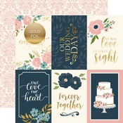 4x6 Journaling Cards Foiled Paper - Just Married - Echo Park