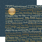 Our Love Foiled Paper - Just Married - Echo Park