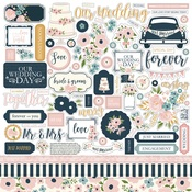 Just Married Sticker Sheet - Echo Park