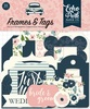 Just Married Frames & Tags - Echo Park Ephemera Cardstock Die-Cuts. Perfect for all your paper crafting needs! This package contains 33 pieces. Acid and lignin free.