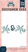 Mr & Mrs Word Die Set - Echo Park - PRE ORDER