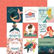 4x4 Journaling Card Paper - Mermaid Tales - Echo Park