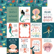 3x4 Journaling Card Paper - Mermaid Tales - Echo Park