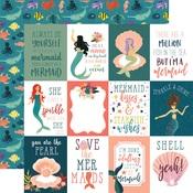 3x4 Journaling Card Paper - Mermaid Tales - Echo Park