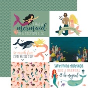4x6 Journaling Card Paper - Mermaid Tales - Echo Park