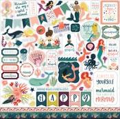 Mermaid Tales Element Sticker Sheet - Echo Park