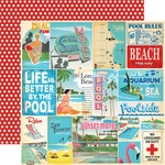 Vacation Journaling Card Paper - Summer Splash - Carta Bella