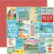 Vacation Journaling Card Paper - Summer Splash - Carta Bella