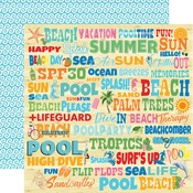 Splash Words Paper - Summer Splash - Carta Bella