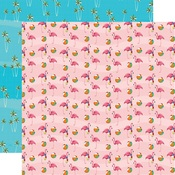 Flamingo Fun Paper - Summer Splash - Carta Bella