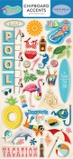 Summer Splash Chipboard Accents - Carta Bella
