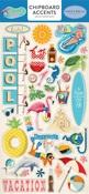 Summer Splash Chipboard Accents - Carta Bella