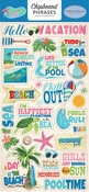 Summer Splash Chipboard Phrases - Carta Bella