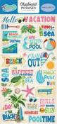 Summer Splash Chipboard Phrases - Carta Bella