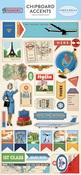 Passport Chipboard Accents - Carta Bella