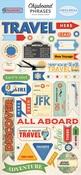 Passport Chipboard Phrases - Carta Bella